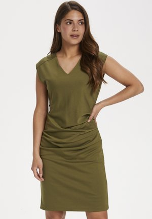 INDIA V NECK DRESS - Shift dress - capulet olive
