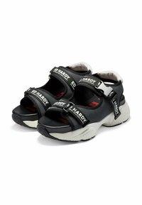 Ed Hardy - AQUA  - Walking sandals - iridescent charcoal - 5
