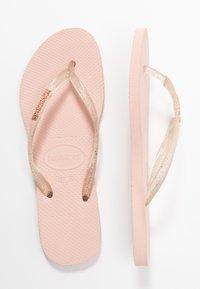 Havaianas - SLIM FIT LOGO METALLIC - Pool shoes - ballet rose - 3