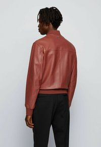 BOSS - NIPET - Leather jacket - brown - 2
