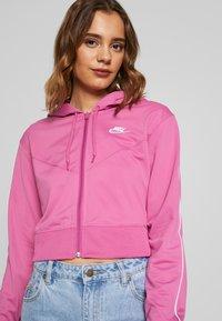 Nike Sportswear - HOODIE - Training jacket - cosmic fuchsia / white - 3