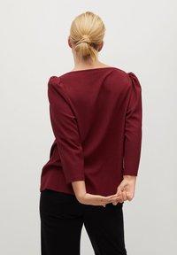 Violeta by Mango - RAYETAS - Long sleeved top - maroon - 2