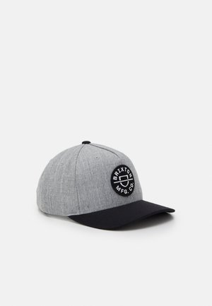 CREST SNAPBACK UNISEX - Caps - heather grey/black