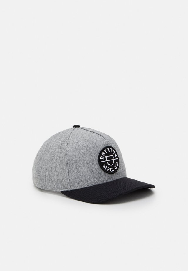 CREST SNAPBACK UNISEX - Kšiltovka - heather grey/black