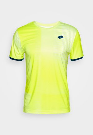 TOP TEN TEE - Camiseta estampada - yellow neon