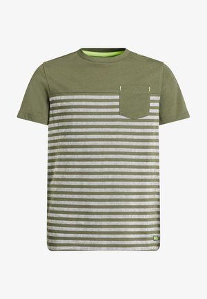 T-shirt con stampa - army green