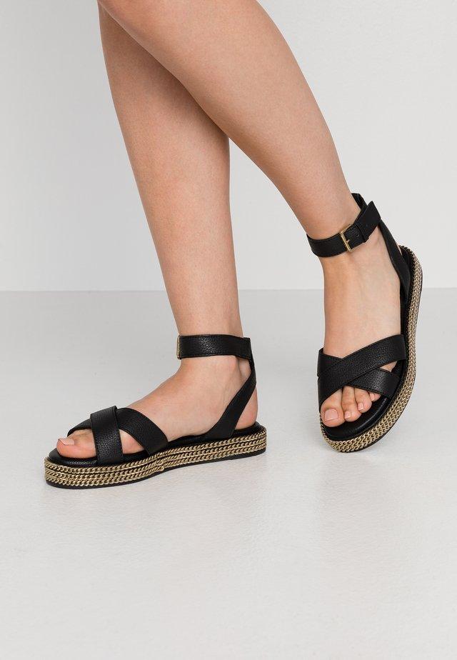 LAWSON - Sandaalit nilkkaremmillä - black