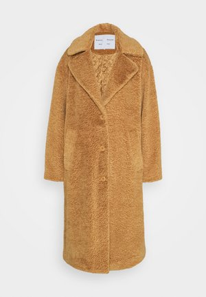 TEDDYBEAR COAT WITH SIDE SLITS - Manteau classique - toast
