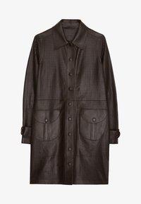 Uterqüe - MIT STANZMUSTER - Krátký kabát - brown - 5