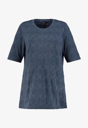 Print T-shirt - blue denim