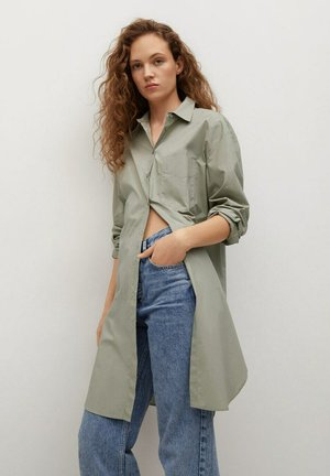 Button-down blouse - pastelgroen