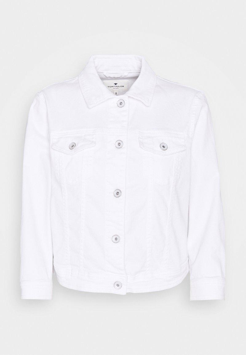 TOM TAILOR - CROPPED JACKET - Denim jacket - white denim