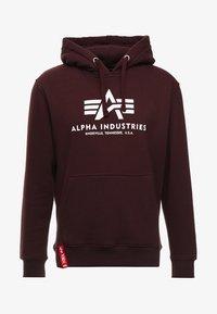Alpha Industries - Hoodie - deep maroon - 4