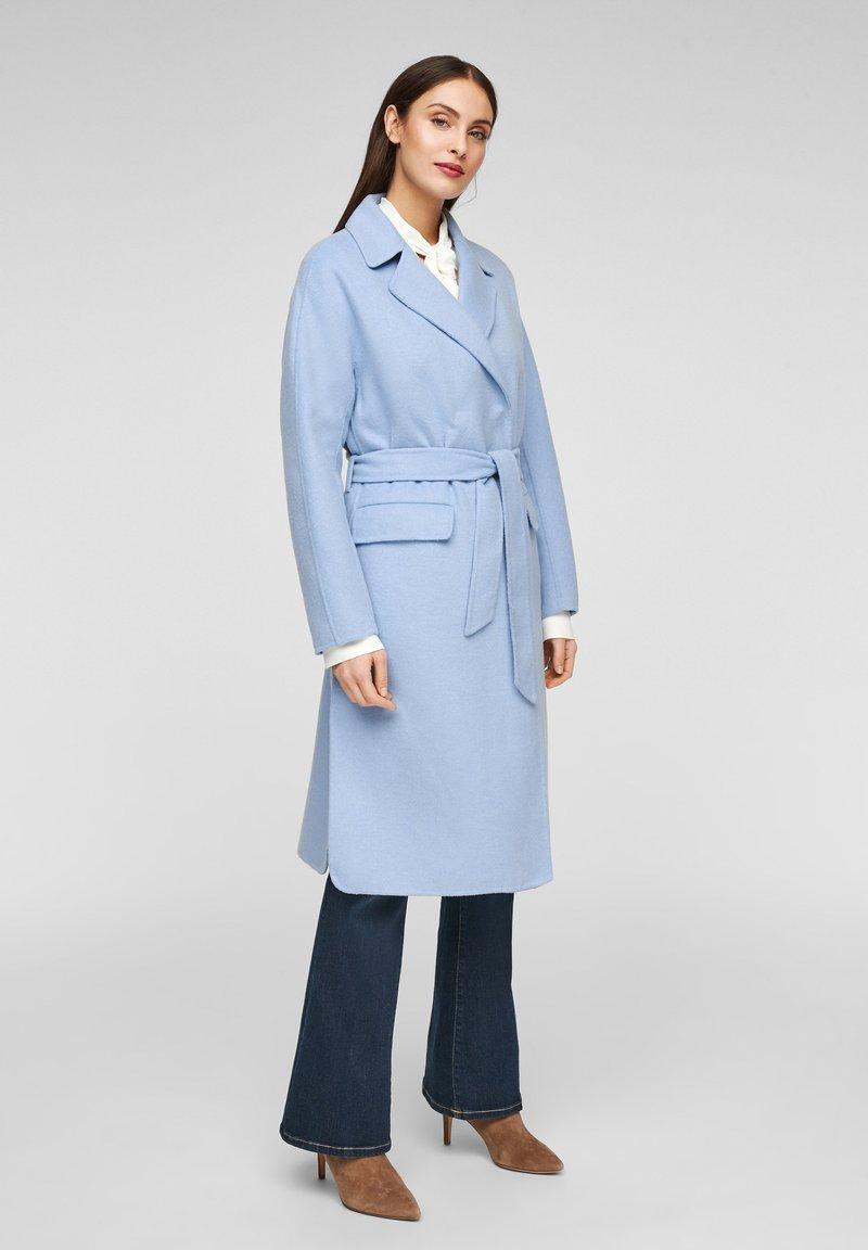 s.Oliver BLACK LABEL - Classic coat - light blue
