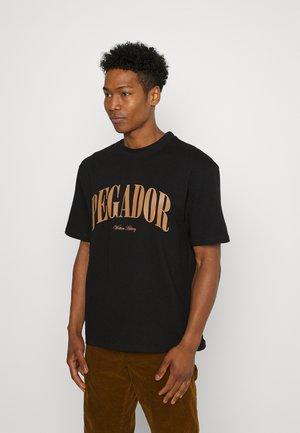 CALI OVERSIZED TEE UNISEX - Print T-shirt - black/ginger