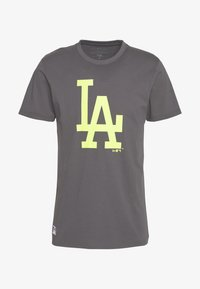 New Era - MLB LOS ANGELES DODGERS SEASONAL TEAM LOGO TEE - Club wear - dark grey - 3