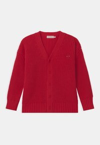 TINYCOTTONS - DOG FACE CHUNKY UNISEX - Cardigan - red - 0