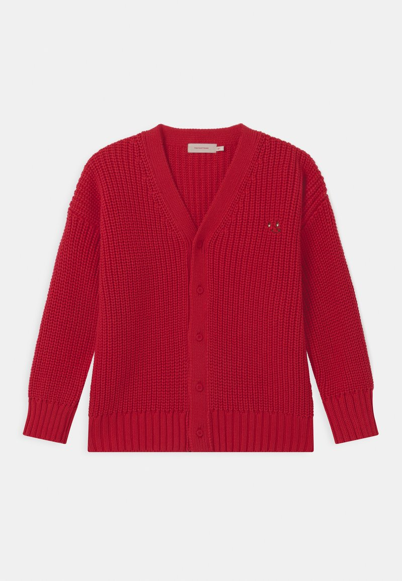 TINYCOTTONS - DOG FACE CHUNKY UNISEX - Cardigan - red
