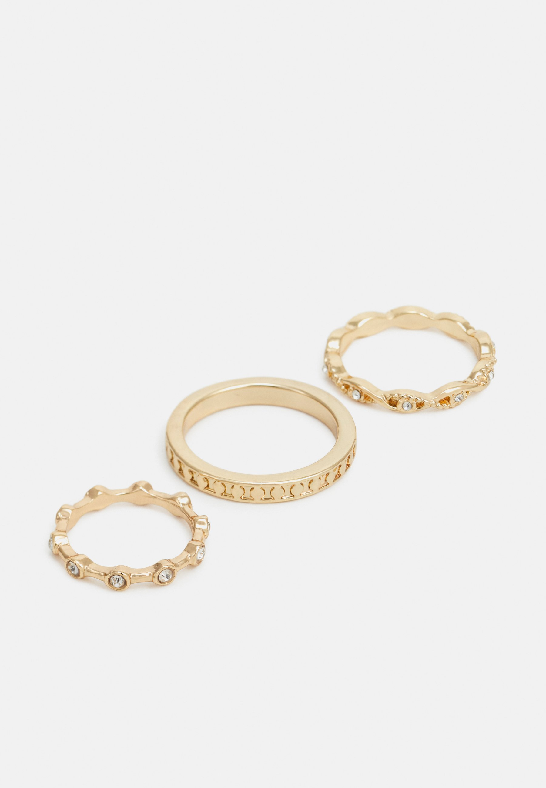 Pieces PCWALLY 9 PACK - Ring - gold-coloured/gull iRjctHAZVK50L6o
