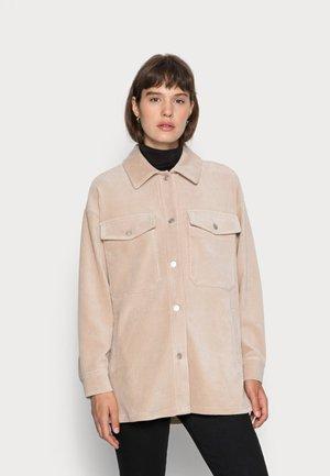 JACKET OVERSIZED - Button-down blouse - beige