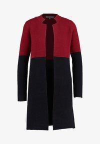 BLOCK - Cardigan - burgundy/black