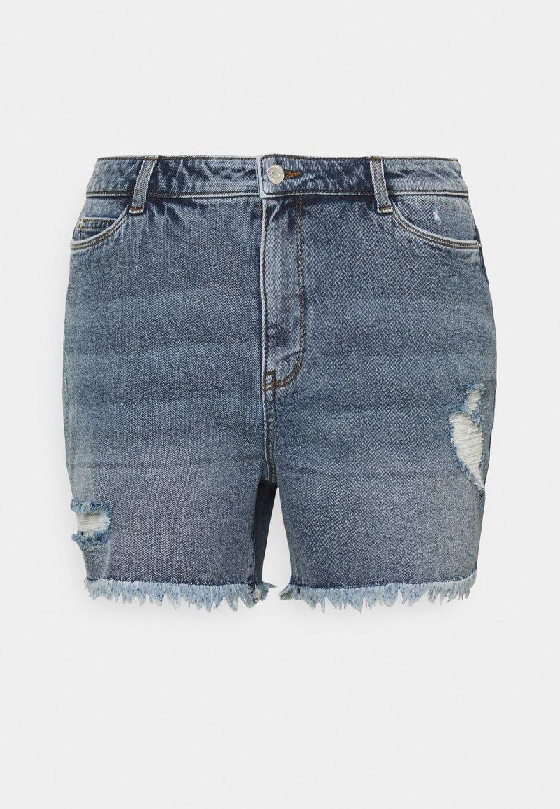 Vero Moda Curve - VMERASA  - Shorts di jeans - medium blue denim