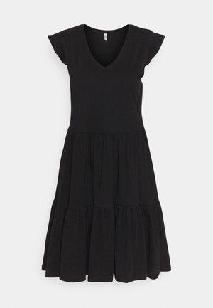 ONLMAY LIFE CAP FRILL DRESS - Vestido ligero - black