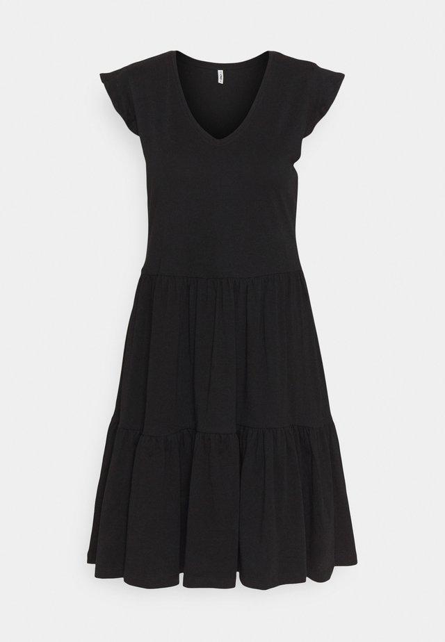 ONLMAY LIFE CAP FRILL DRESS - Sukienka z dżerseju - black