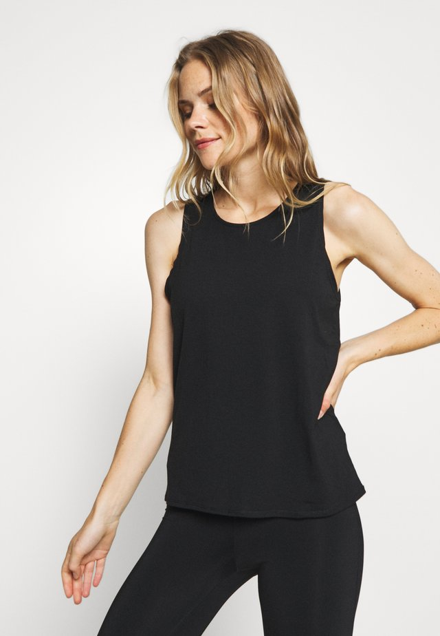 TWO IN ONE TWIST TANK - Top - black/grey marle