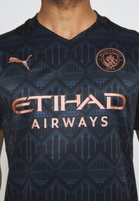 Puma - MANCHESTER CITY AWAY SHIRT REPLICA - Club wear - black/dark denim - 5