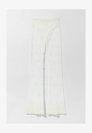 TULLE - Trousers - white