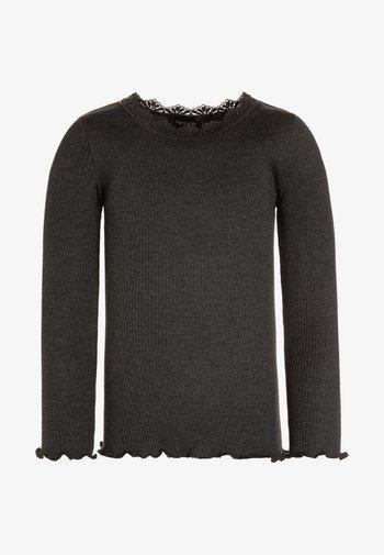 SILK - Long sleeved top - dark grey melange