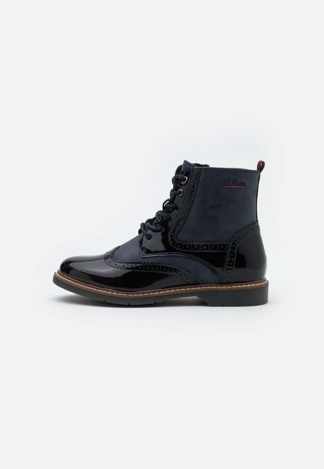 BOOTS - Bottines à lacets - navy