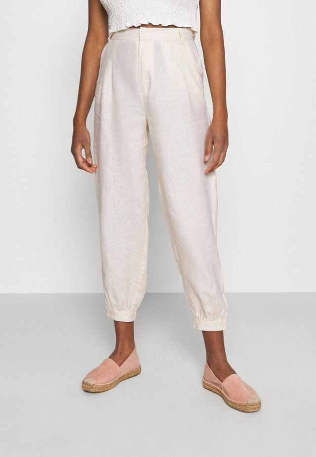 BALLOON LEG PANTS - Trousers - light beige