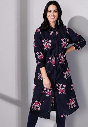 Shirt dress - marineblau,pink