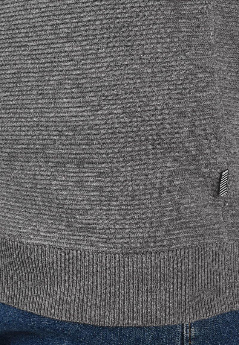 Solid CEZAR - Strickjacke - grey melange/grau-meliert 8C4Ymc