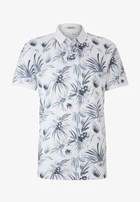 TOM TAILOR DENIM - Polo shirt - white navy thistle print - 4