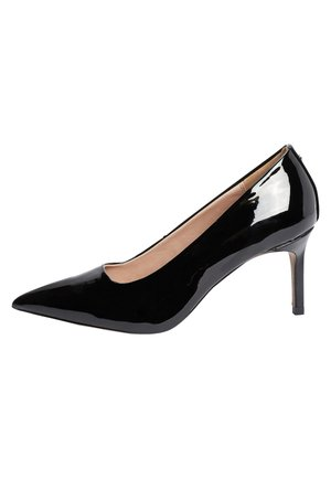 BLACK PATENT COURT SHOES - Escarpins - black
