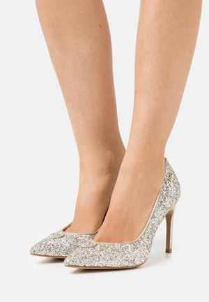 MILU DÉCOLLETÉ GLITTER  - Klassiske pumps - silver/light gold