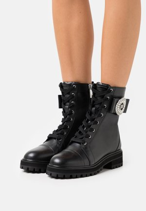 NOW  - Lace-up ankle boots - black