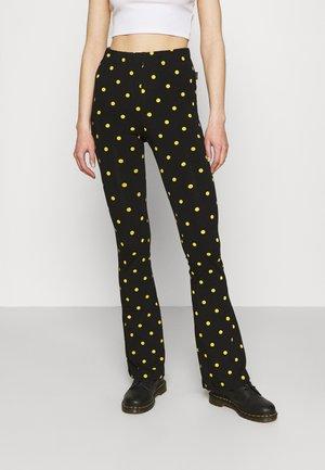 DOTS BASIC FLARE PANTS WOMEN - Leggings - Trousers - black
