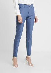 Mos Mosh - BLAKE NIGHT PANT SUSTAINABLE - Bukse - indigo blue - 0