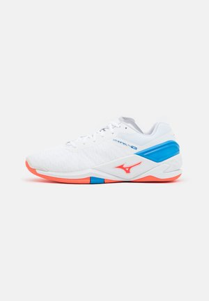 WAVE NEO - Handballschuh - white/ignition red/french blue