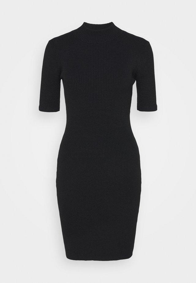TAHLIA TRUE MINI DRESS - Pletené šaty - black