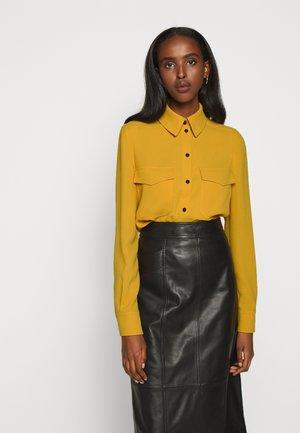POPPIE - Button-down blouse - medium yellow