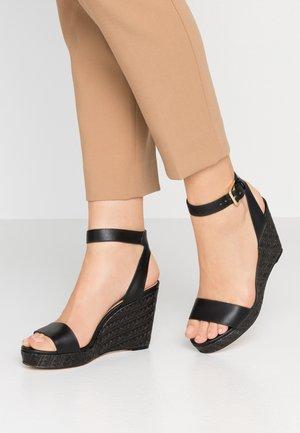 UNALIVIEL - High heeled sandals - black
