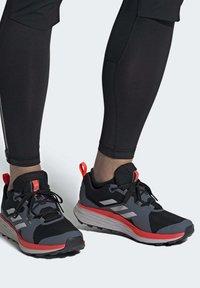 adidas Performance - TERREX TWO GORE-TEX TRAIL RUNNING SHOES - Laufschuh Trail - black - 0