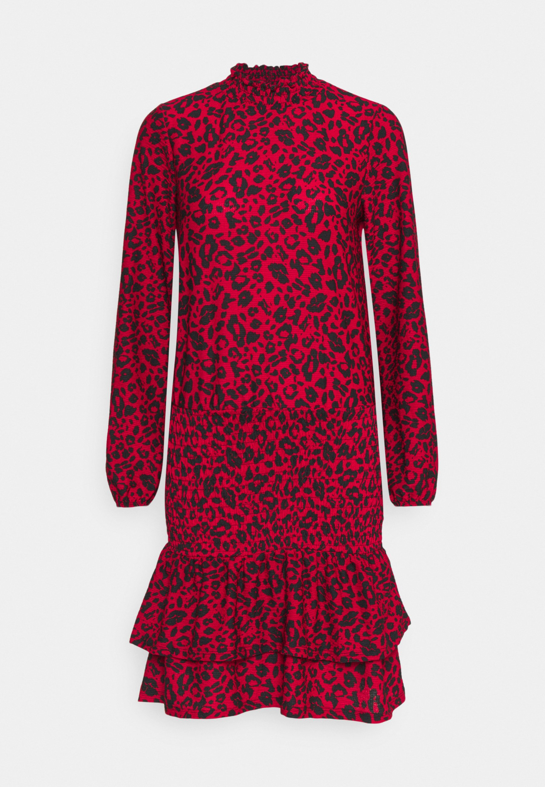 Women SHEERED MINI ANIMAL - Jersey dress