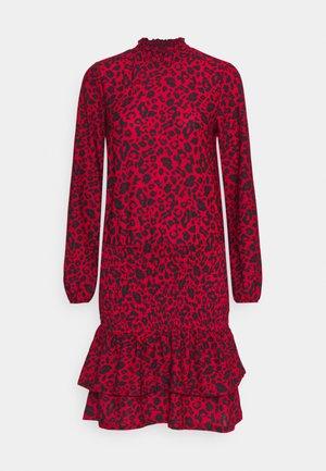 SHEERED MINI ANIMAL - Sukienka z dżerseju - red