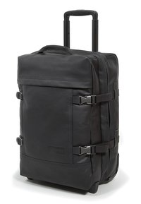 Eastpak - TRANVERZ S LEATHER REISEGEPÄCK - Trolleyväska - black ink - 3